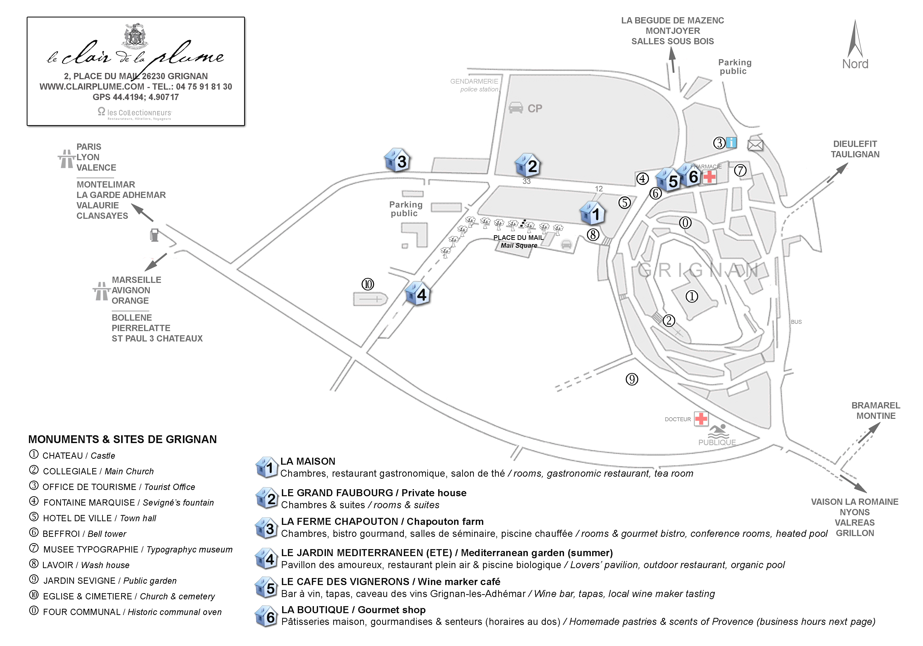CLAIR DE PLUME Plan village pour accueil