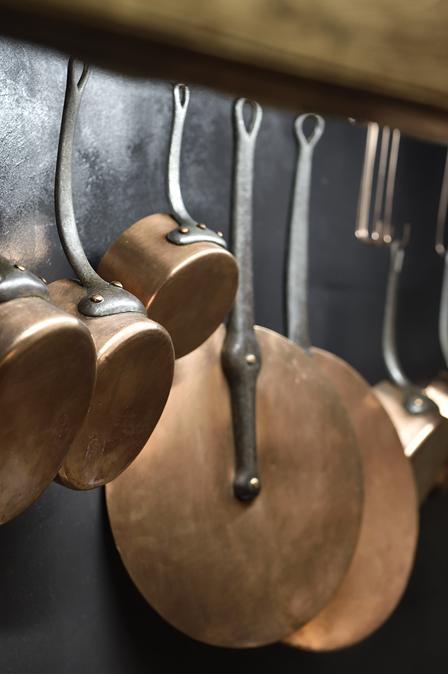 bistro cookware at La Ferme Chapouton