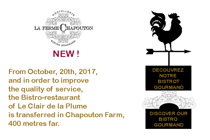 La Ferme Chapouton, the new bistro gourmand of the Clair de la Plume