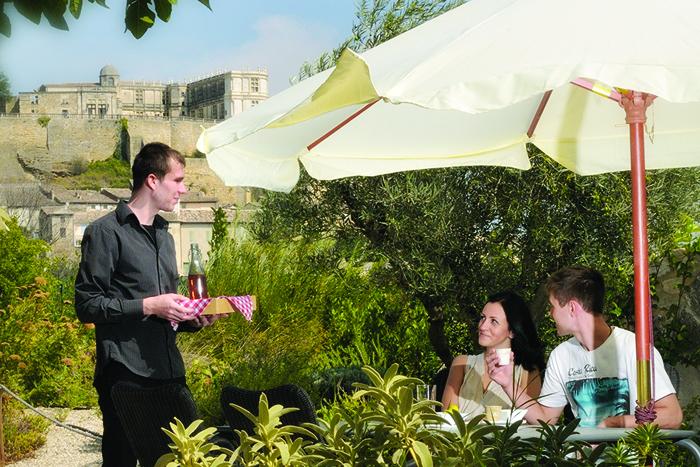 le jardin restaurant repas d'été du clair de la plume