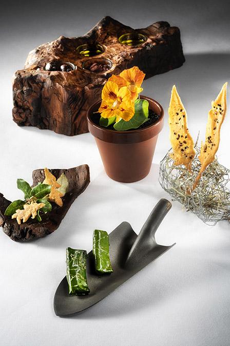 Snacks by Chef Julien Allano