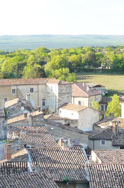 vue sur toits de Grignan en provence
